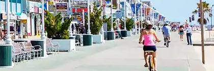 people on the boardwalk